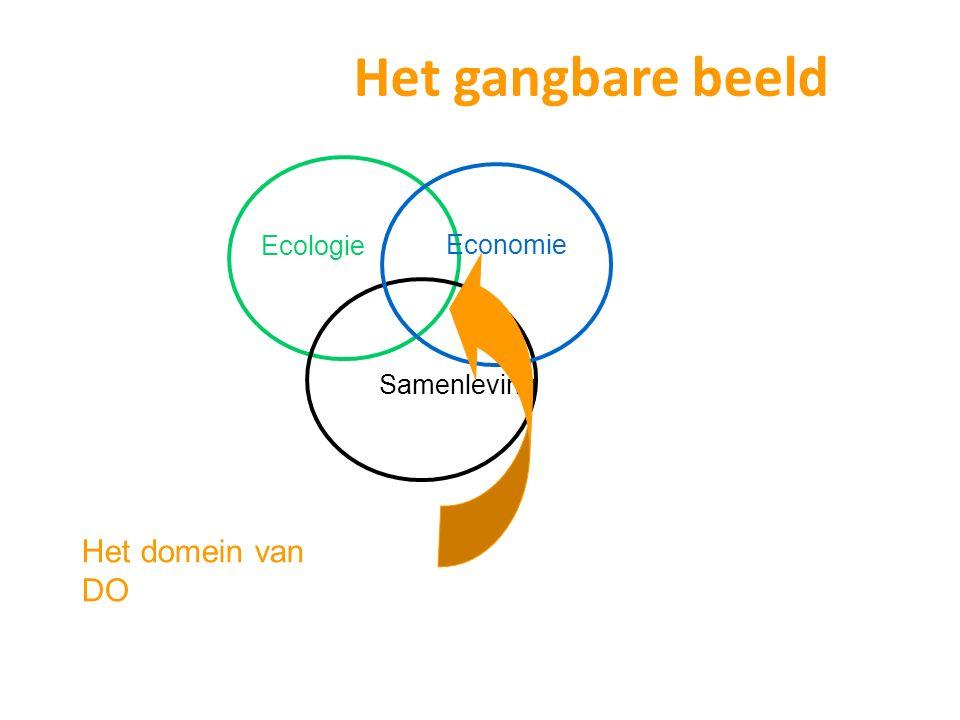 Het gangbare beeld Ecologie Economie Samenleving Het domein van DO