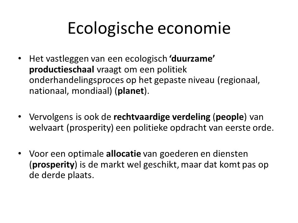 Ecologische economie