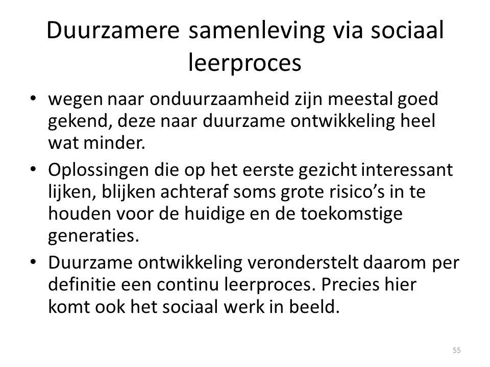 Duurzamere samenleving via sociaal leerproces