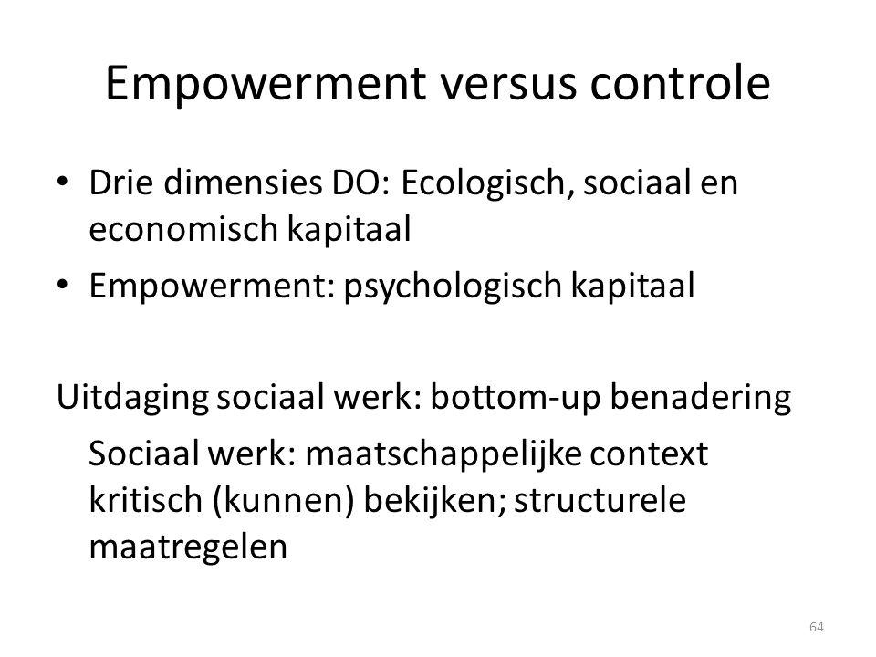 Empowerment versus controle