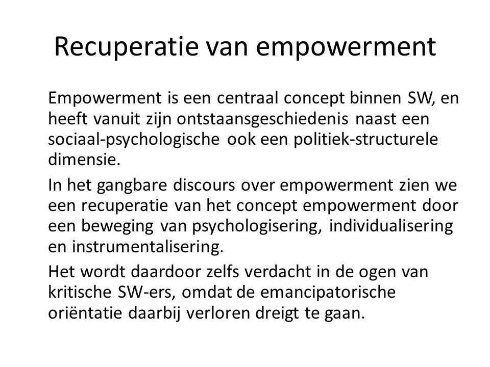 Recuperatie van empowerment