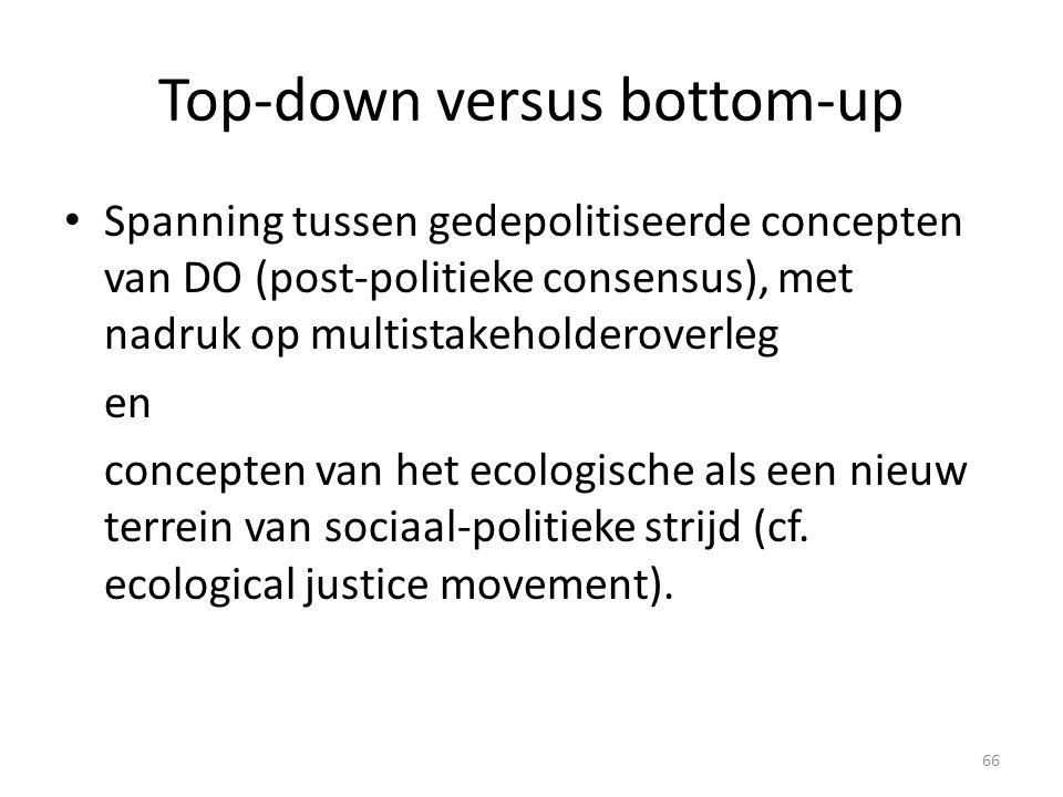 Top-down versus bottom-up