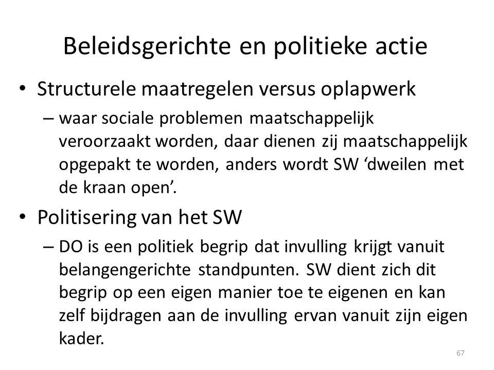 Beleidsgerichte en politieke actie