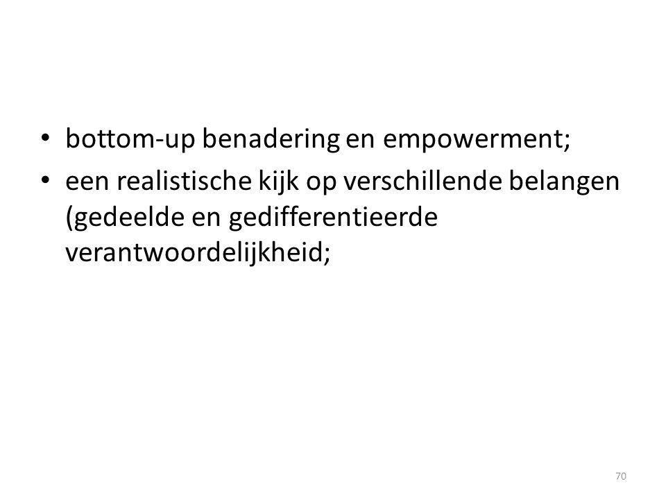 bottom-up benadering en empowerment;