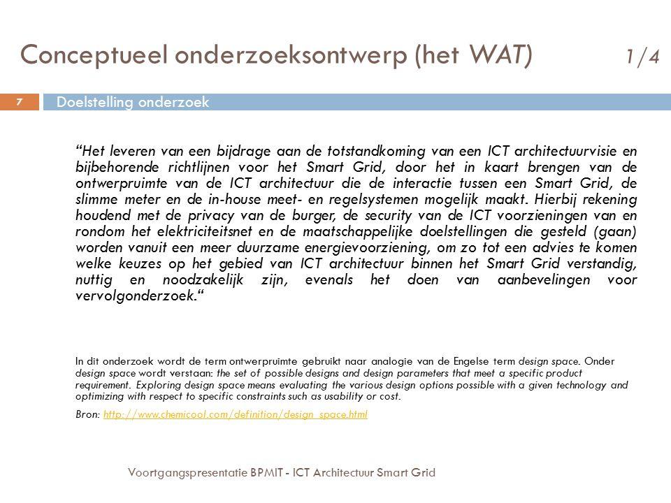 Conceptueel onderzoeksontwerp (het WAT) 1/4