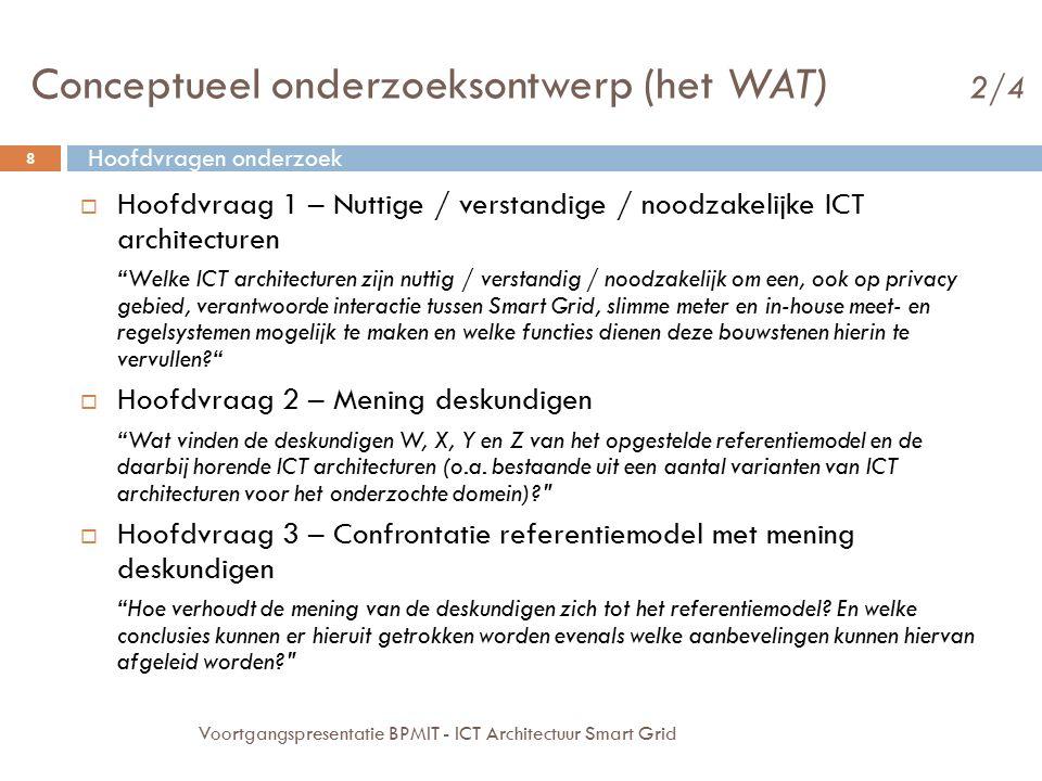 Conceptueel onderzoeksontwerp (het WAT) 2/4