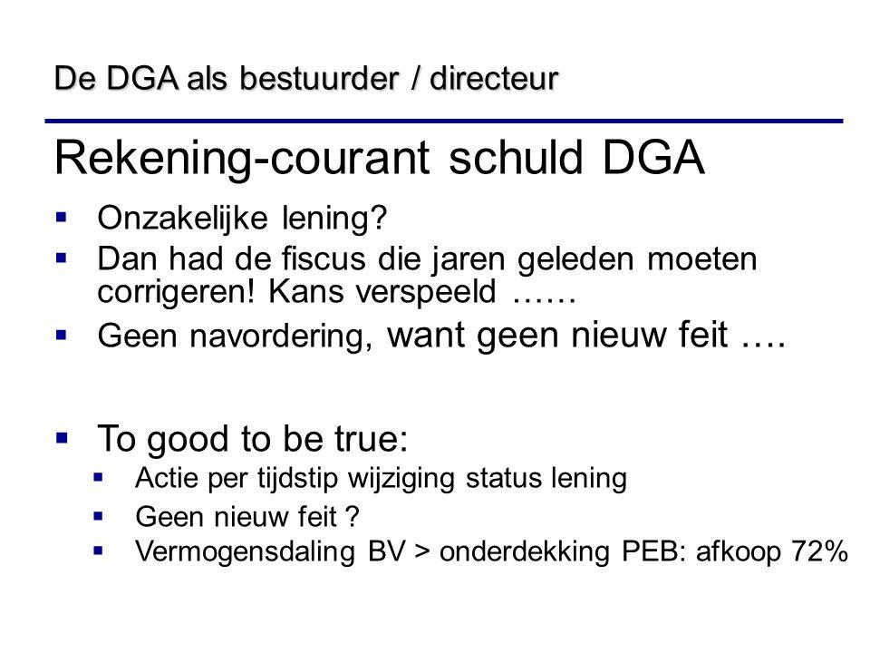 Rekening-courant schuld DGA