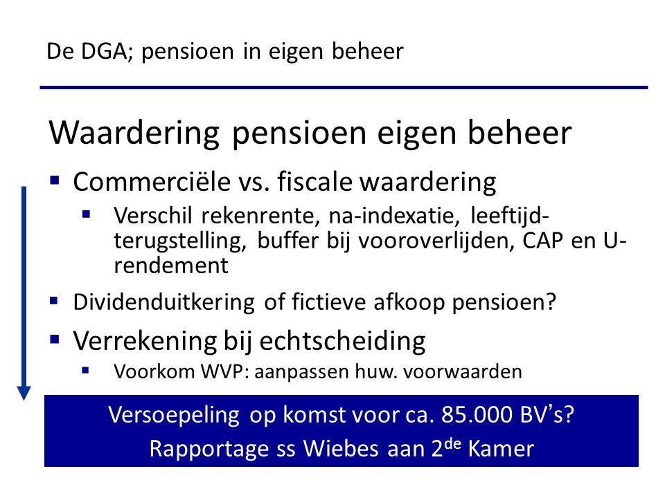 Waardering pensioen eigen beheer