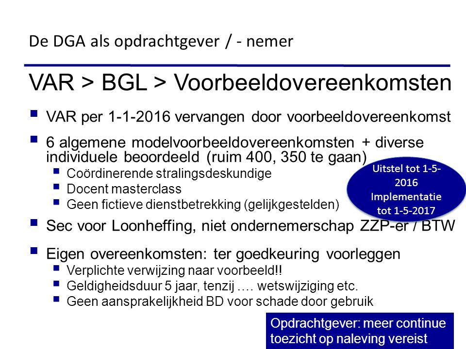 VAR > BGL > Voorbeeldovereenkomsten