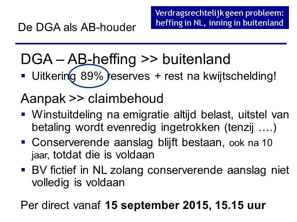 Verdragsrechtelijk geen probleem: heffing in NL, inning in buitenland