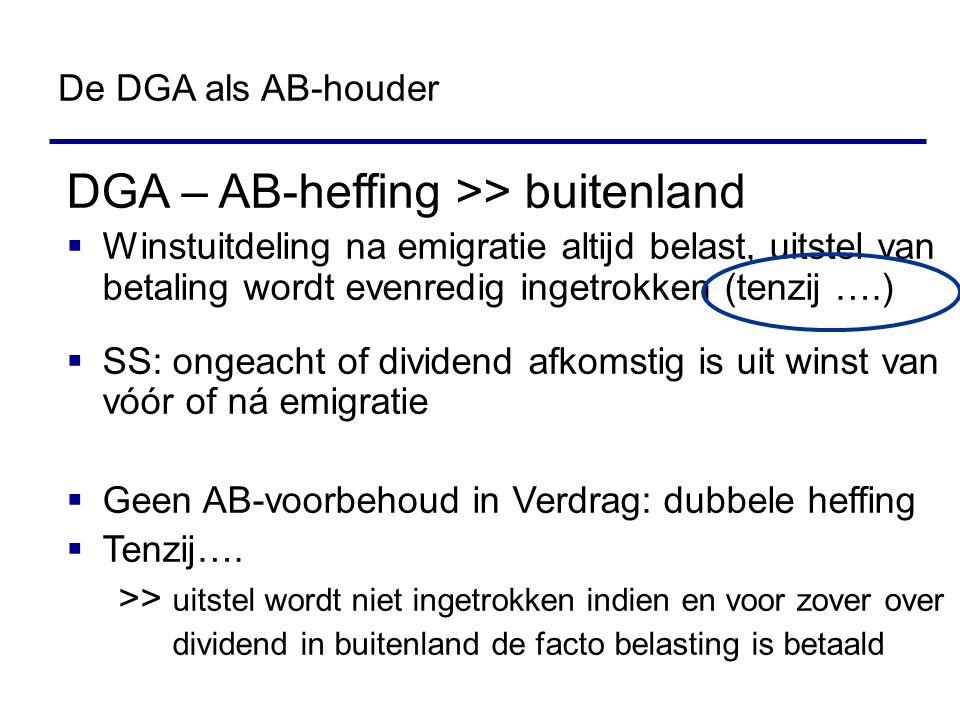 DGA – AB-heffing >> buitenland