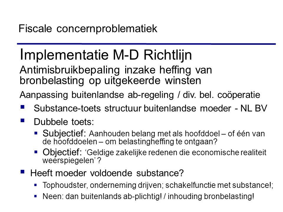 Implementatie M-D Richtlijn