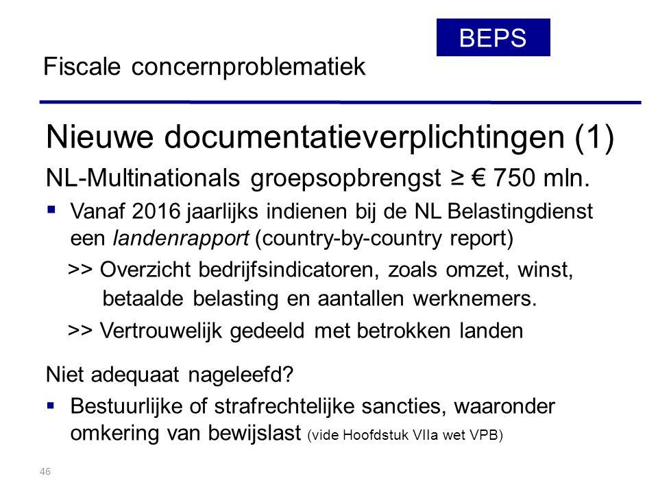 Nieuwe documentatieverplichtingen (1)
