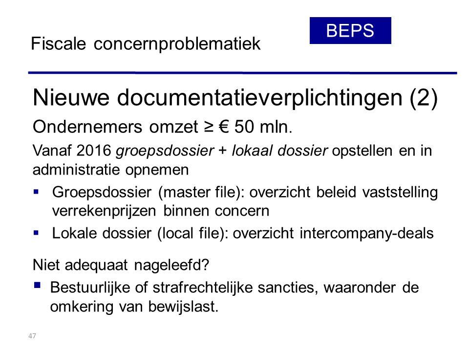 Nieuwe documentatieverplichtingen (2)