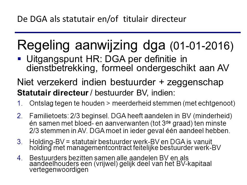 De DGA als statutair en/of titulair directeur