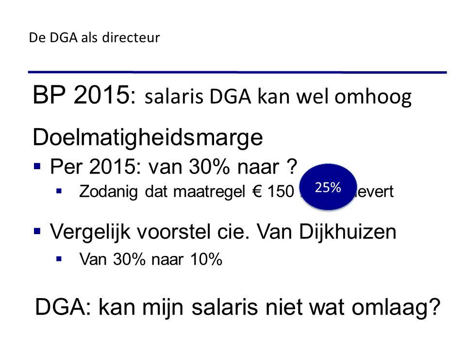 BP 2015: salaris DGA kan wel omhoog