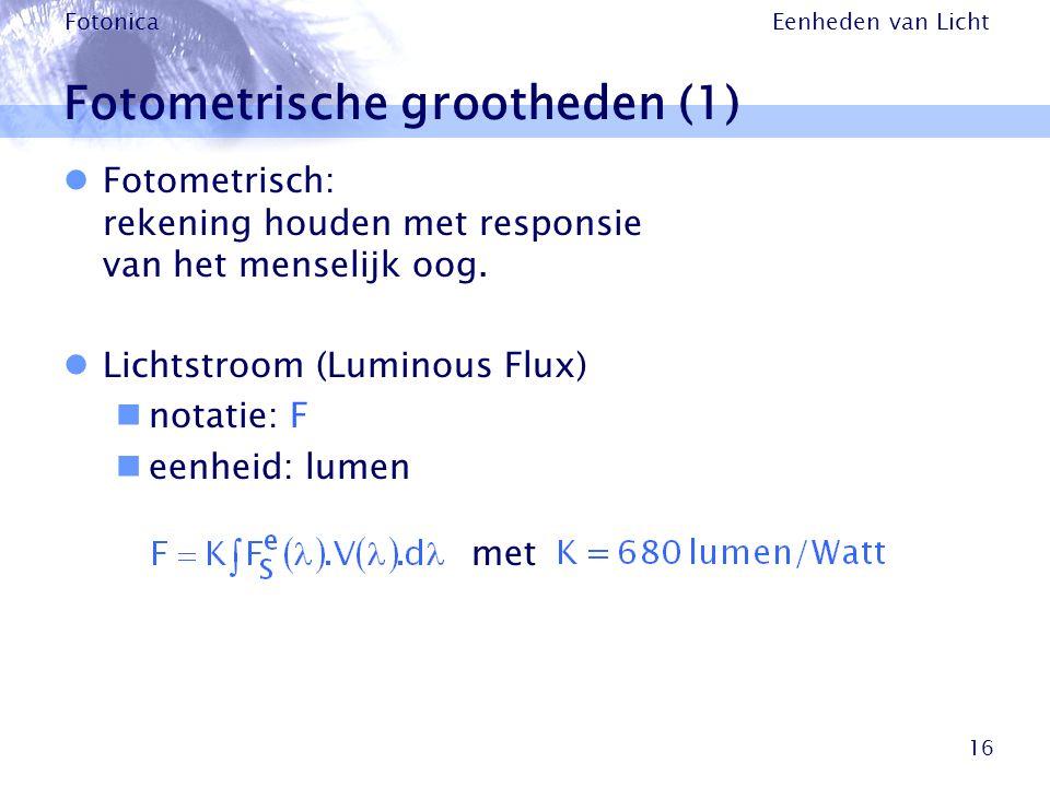 Fotometrische grootheden (1)