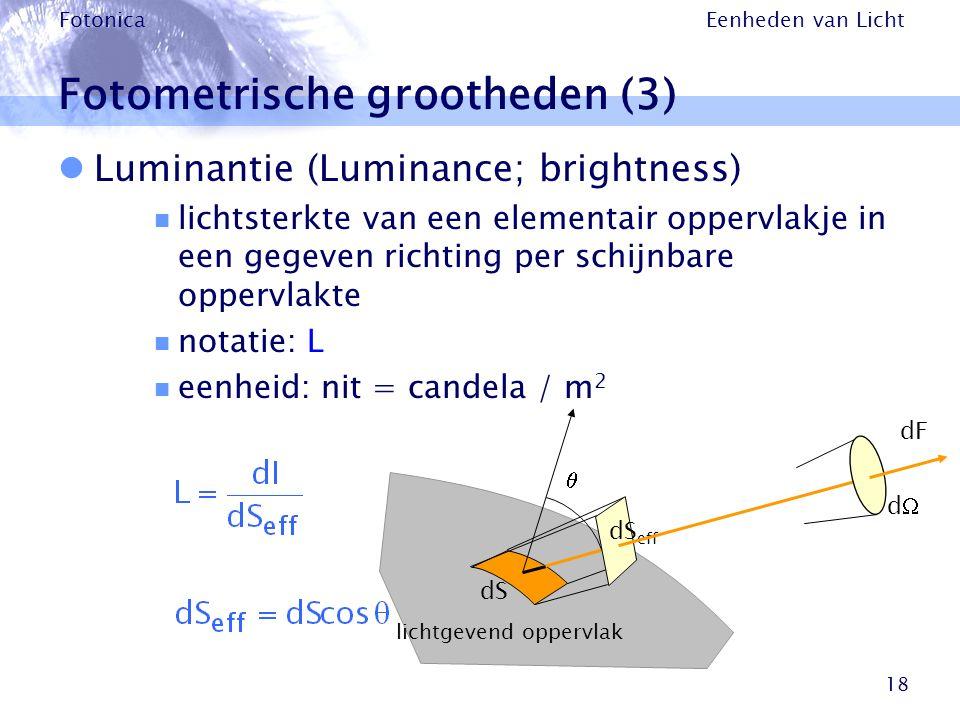 Fotometrische grootheden (3)