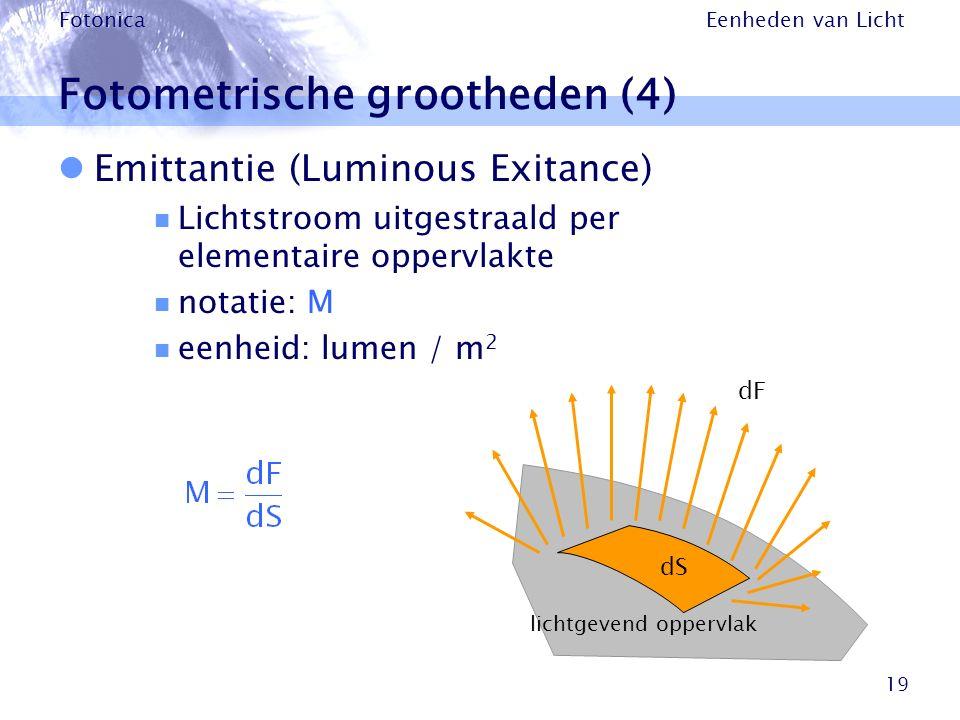 Fotometrische grootheden (4)