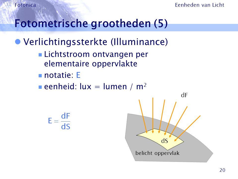 Fotometrische grootheden (5)