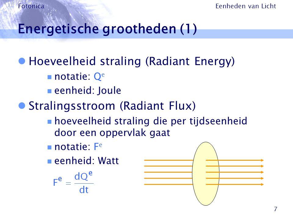 Energetische grootheden (1)