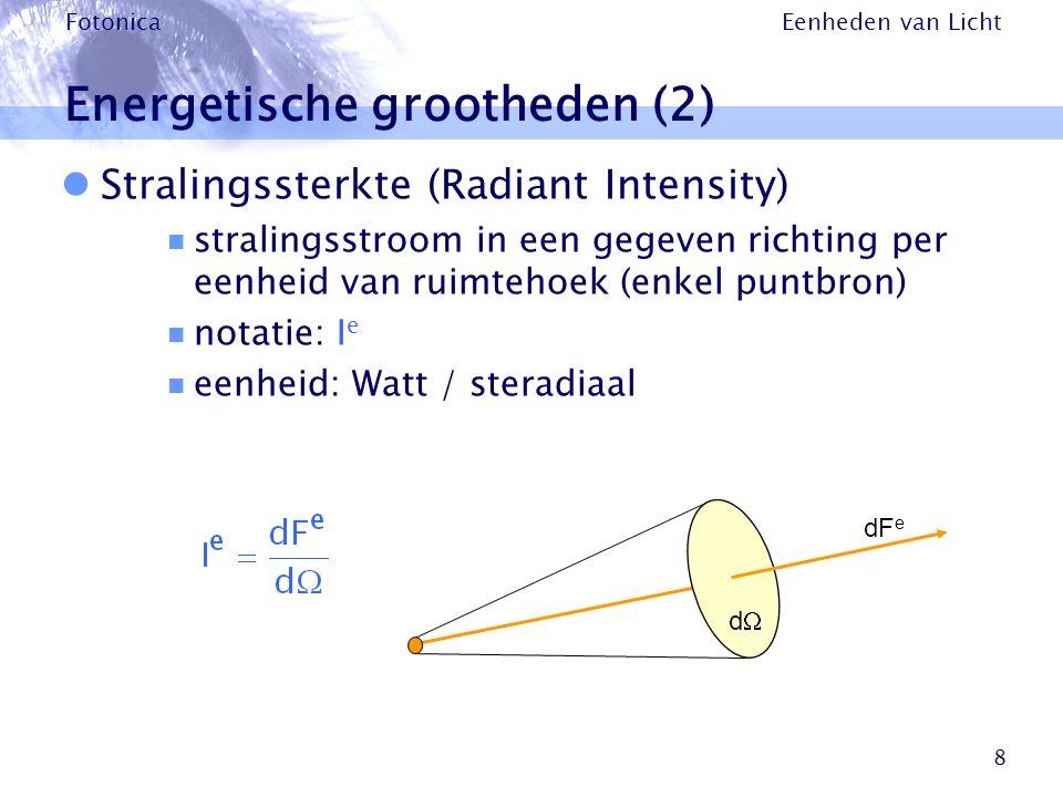 Energetische grootheden (2)