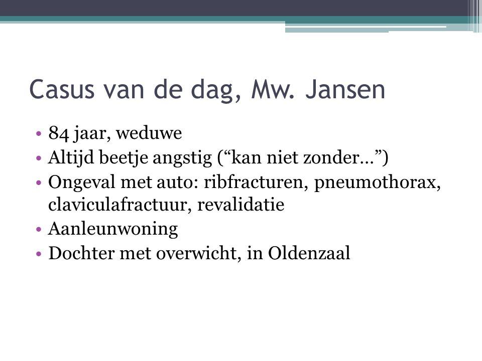 Casus van de dag, Mw. Jansen