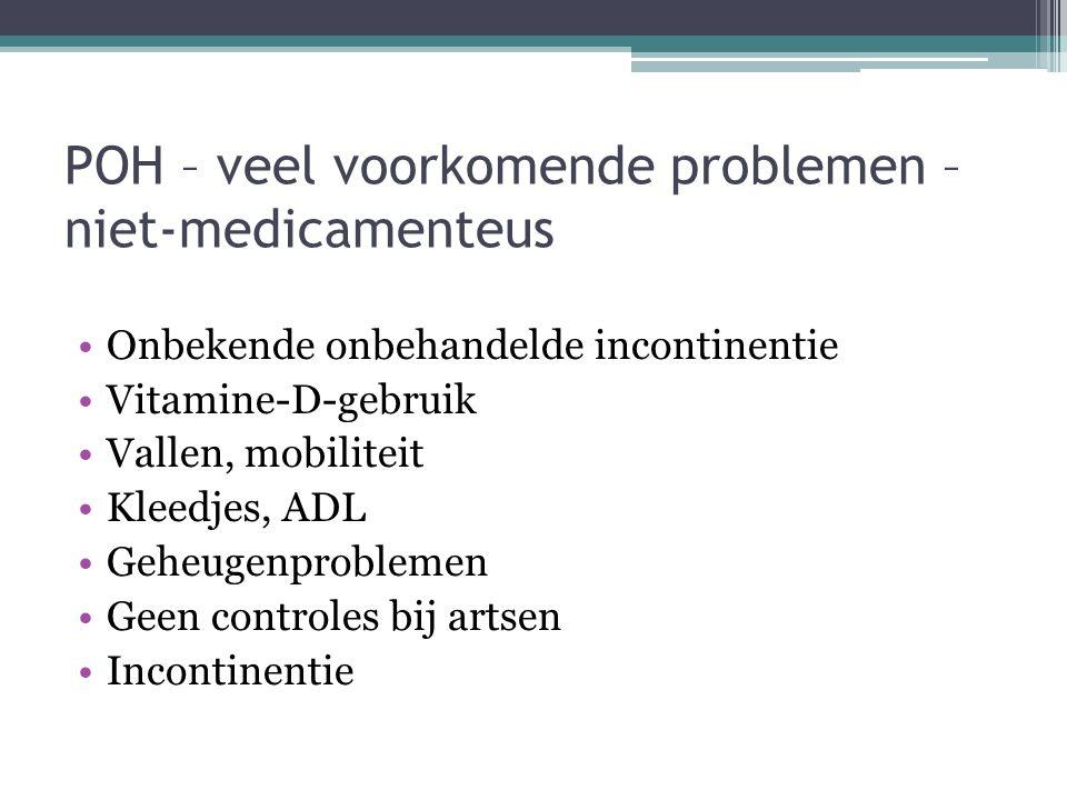 POH – veel voorkomende problemen – niet-medicamenteus