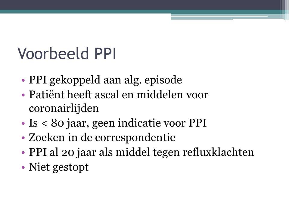 Voorbeeld PPI PPI gekoppeld aan alg. episode