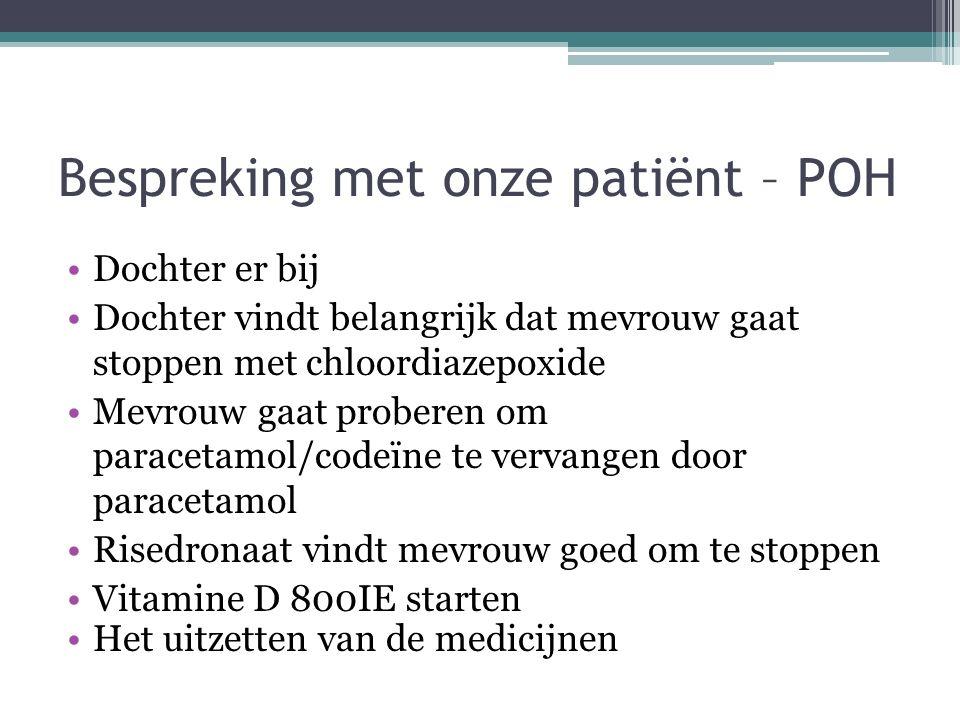 Bespreking met onze patiënt – POH