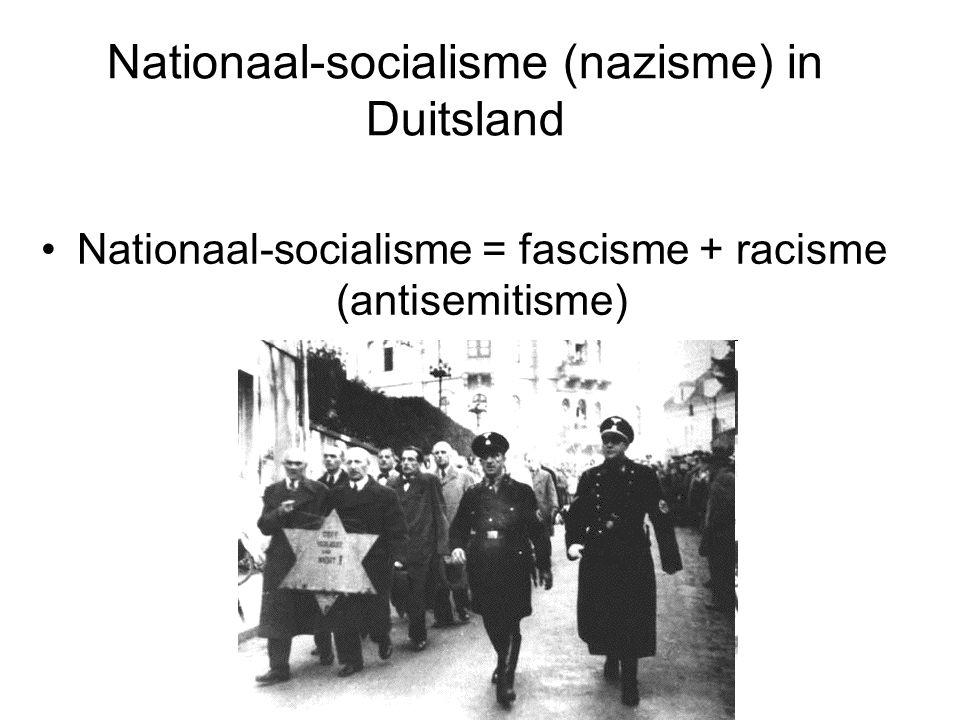 Nationaal-socialisme (nazisme) in Duitsland