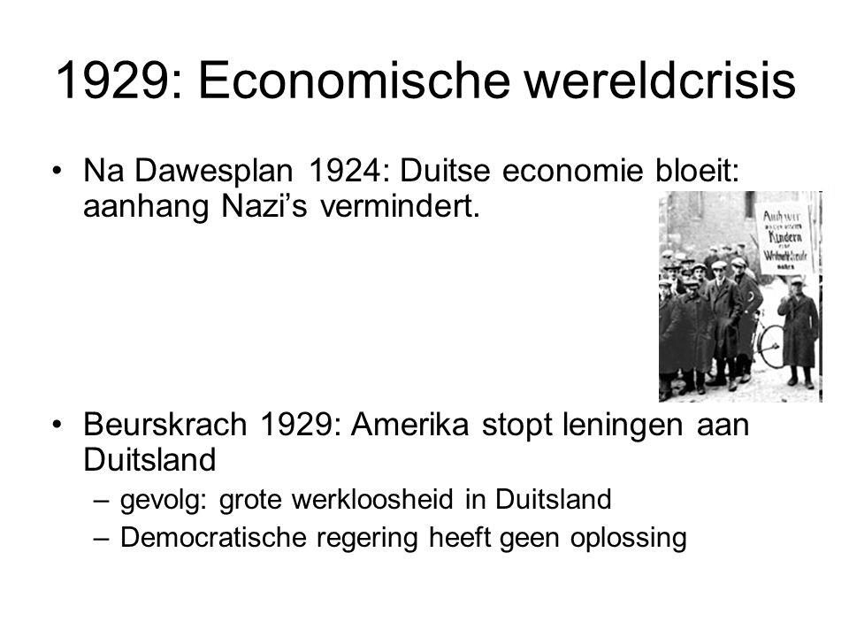 1929: Economische wereldcrisis