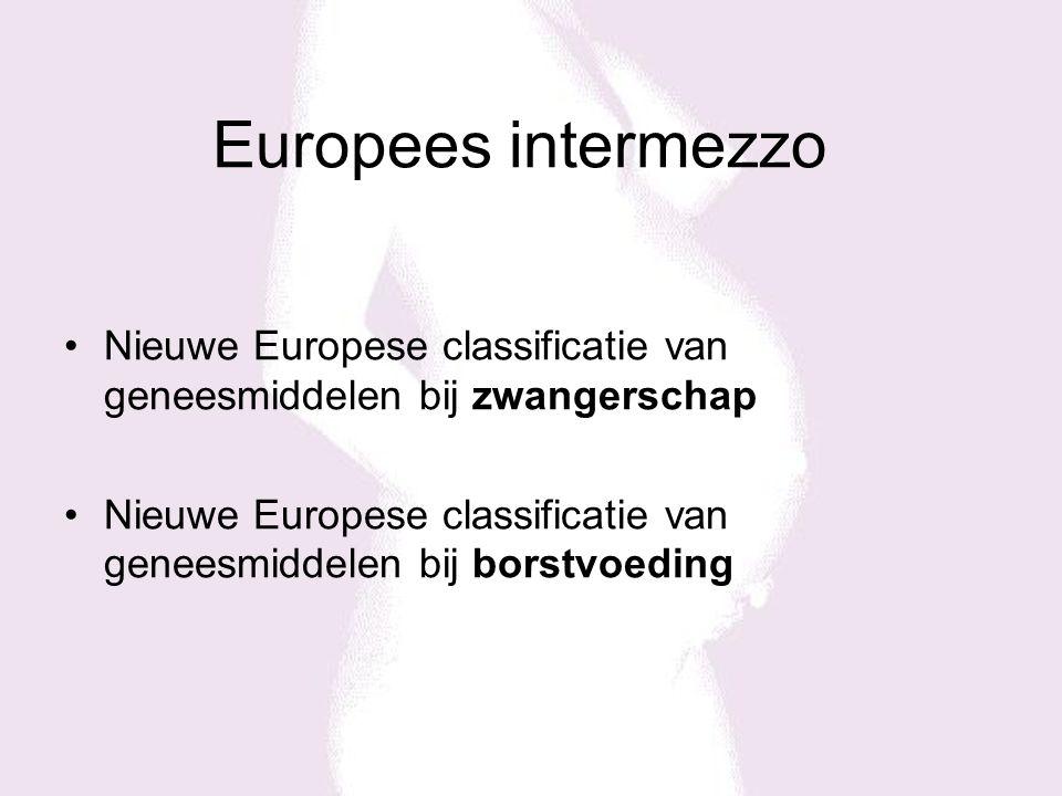 Europees intermezzo Nieuwe Europese classificatie van geneesmiddelen bij zwangerschap.