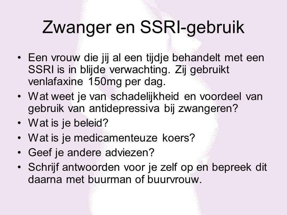 Zwanger en SSRI-gebruik