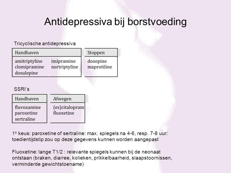 Antidepressiva bij borstvoeding