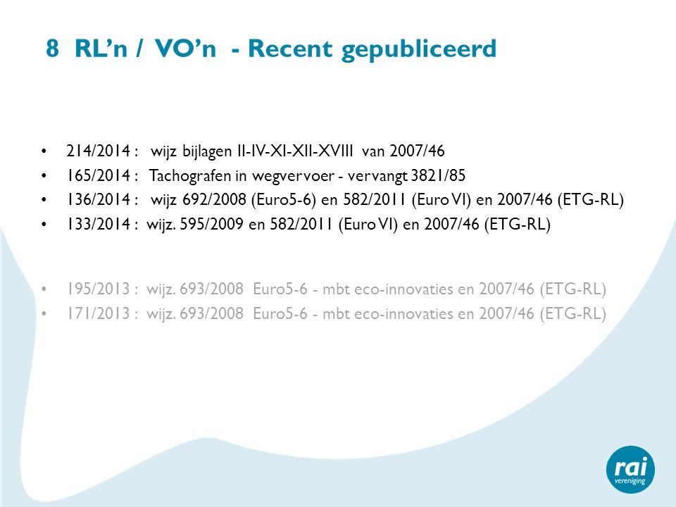 8 RL'n / VO'n - Recent gepubliceerd