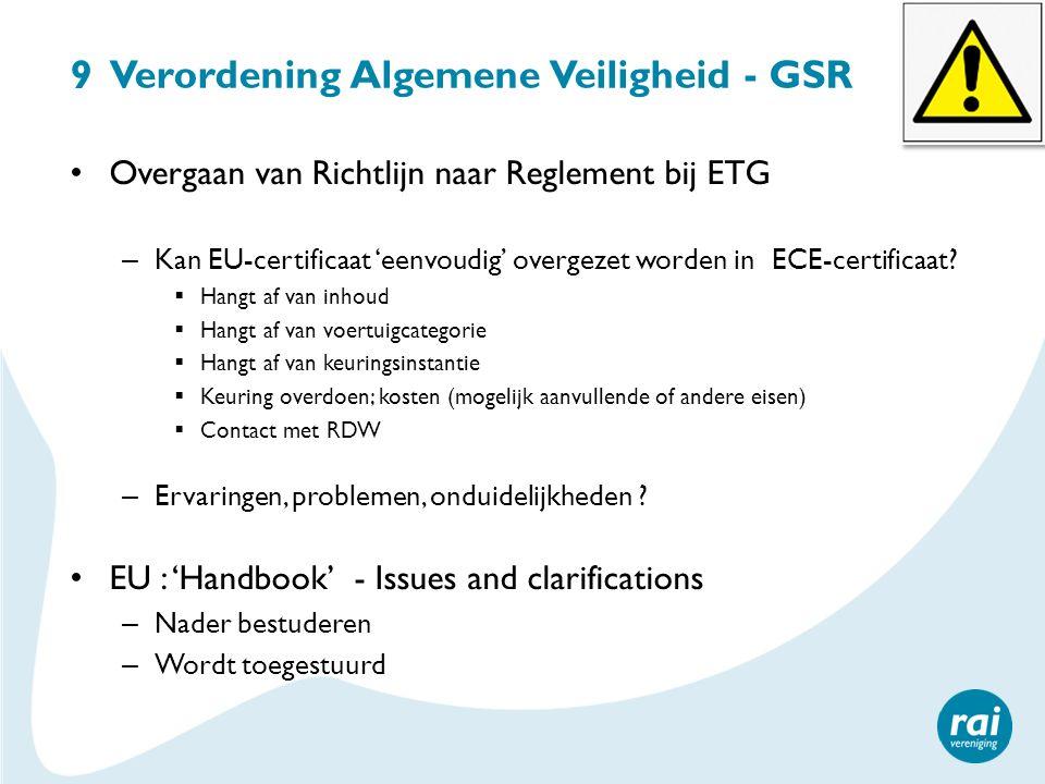 9 Verordening Algemene Veiligheid - GSR