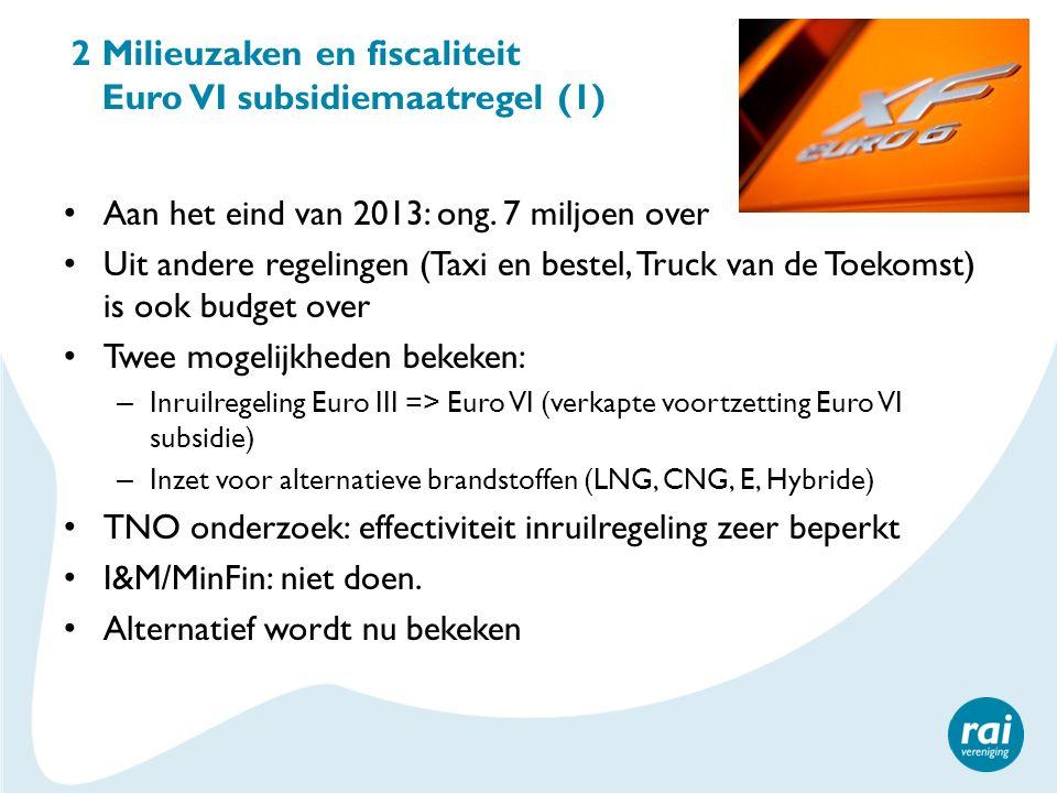 2 Milieuzaken en fiscaliteit Euro VI subsidiemaatregel (1)