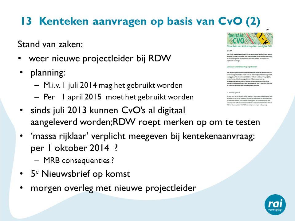 13 Kenteken aanvragen op basis van CvO (2)
