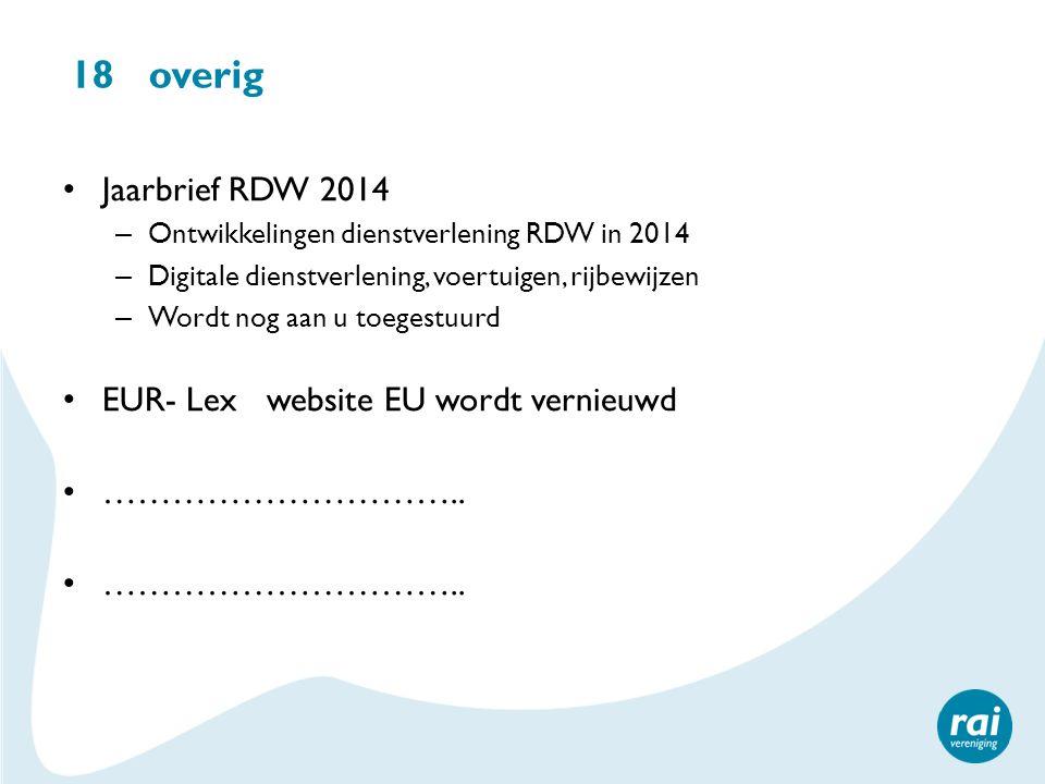 18 overig Jaarbrief RDW 2014 EUR- Lex website EU wordt vernieuwd