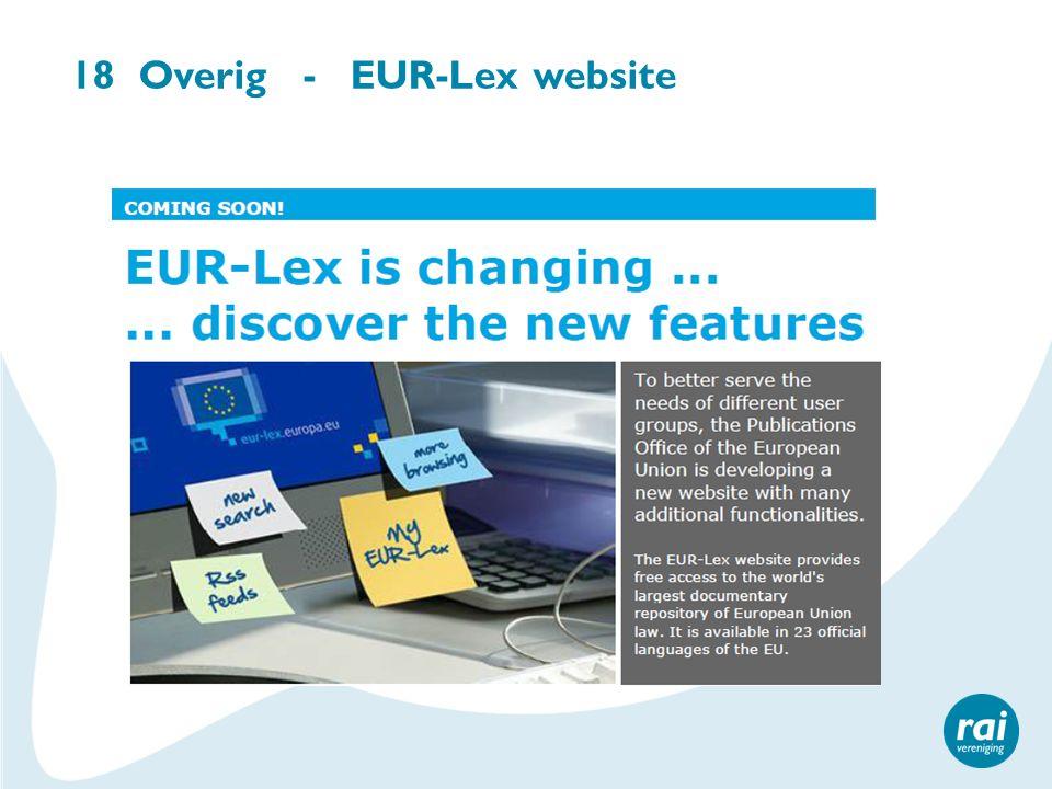 18 Overig - EUR-Lex website