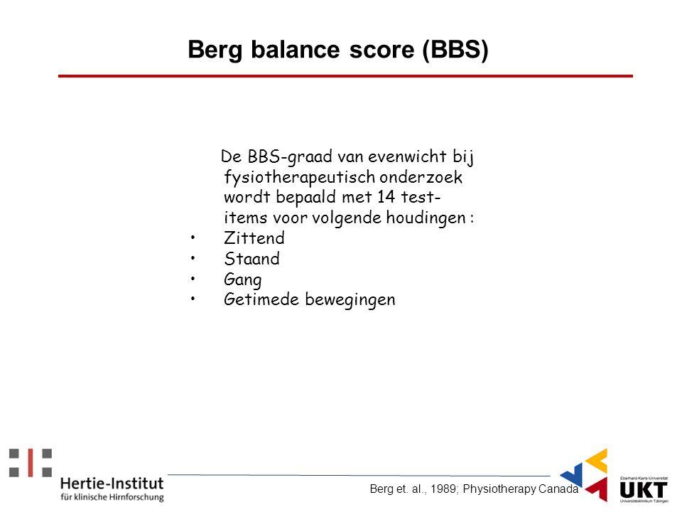 Berg balance score (BBS)