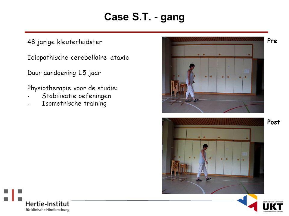 Case S.T. - gang Pre 48 jarige kleuterleidster