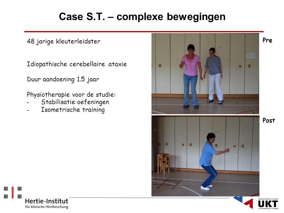 Case S.T. – complexe bewegingen