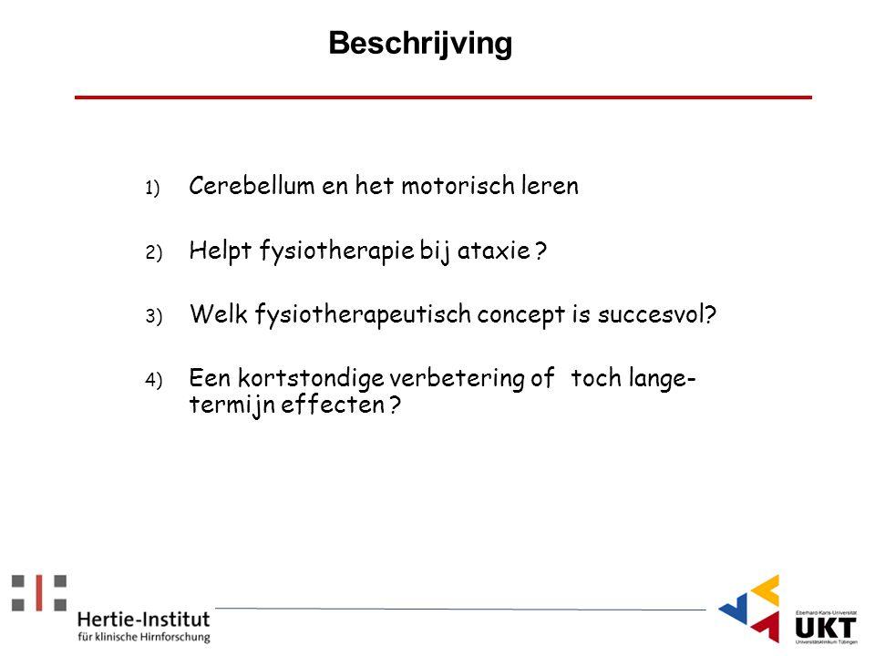 Beschrijving Cerebellum en het motorisch leren