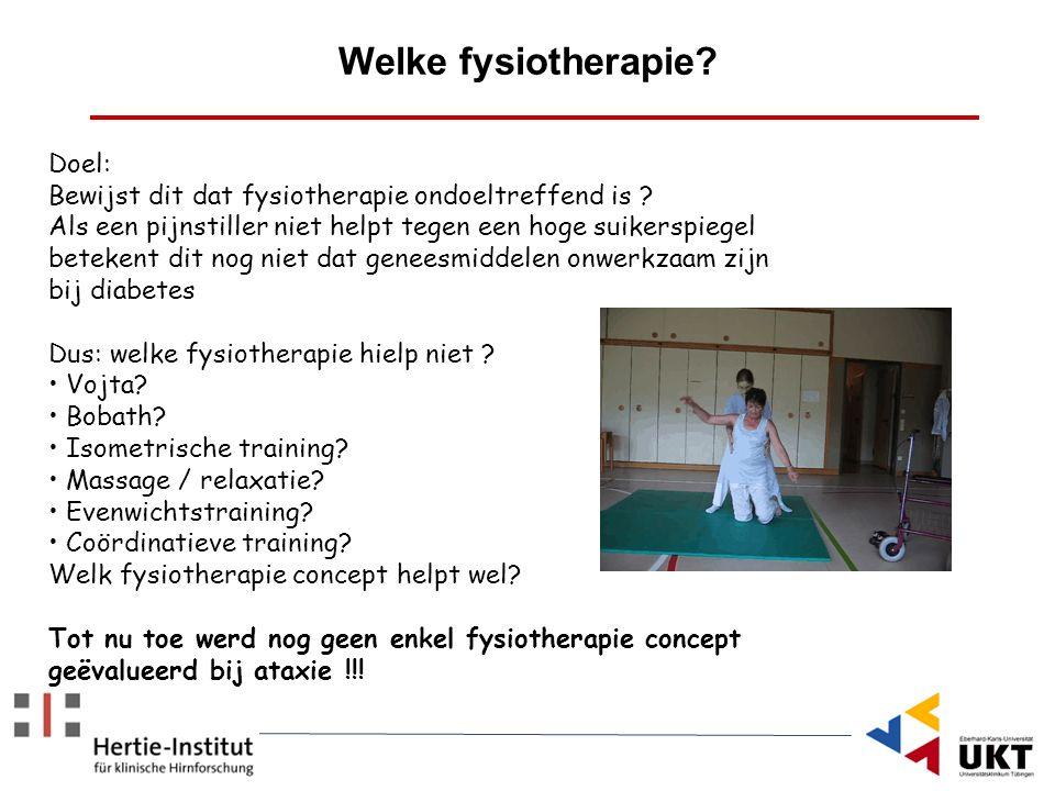 Welke fysiotherapie Doel: