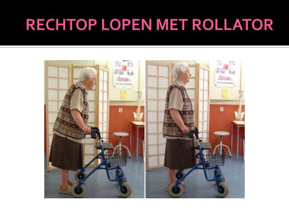 RECHTOP LOPEN MET ROLLATOR