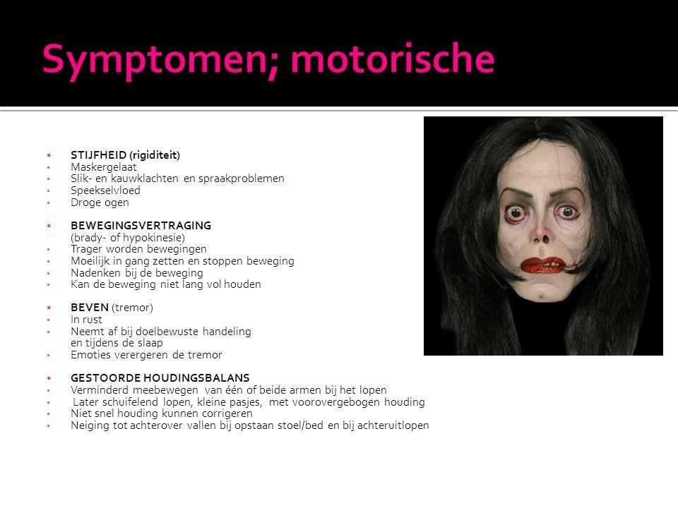 Symptomen; motorische