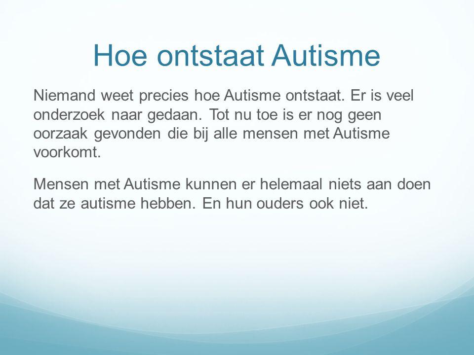 Hoe ontstaat Autisme