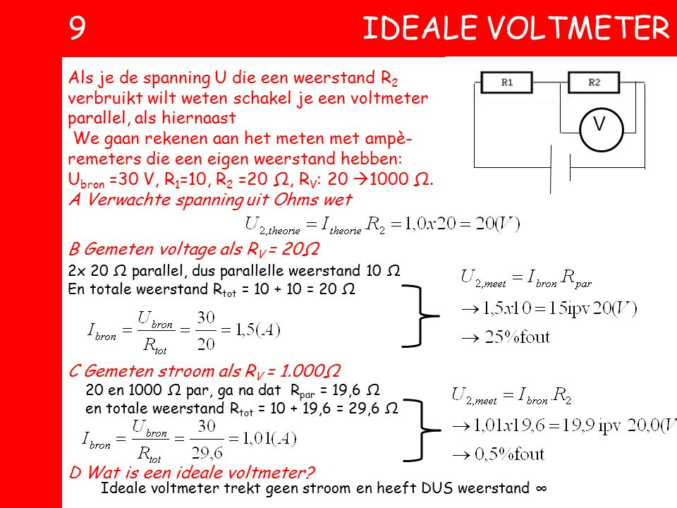 9 ideale voltmeter